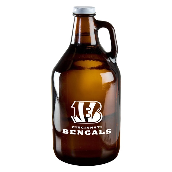 Cincinnati Bengals 64-Ounce Amber Glass Growler