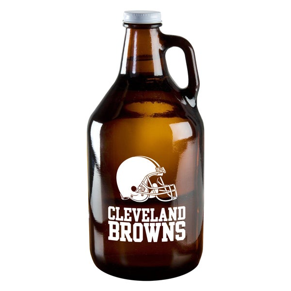 Cleveland Browns 64-Ounce Amber Glass Growler