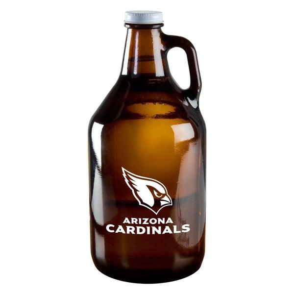 Arizona Cardinals 64-Ounce Amber Glass Growler