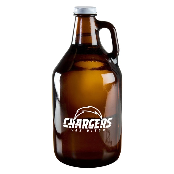 San Diego Chargers 64-Ounce Amber Glass Growler