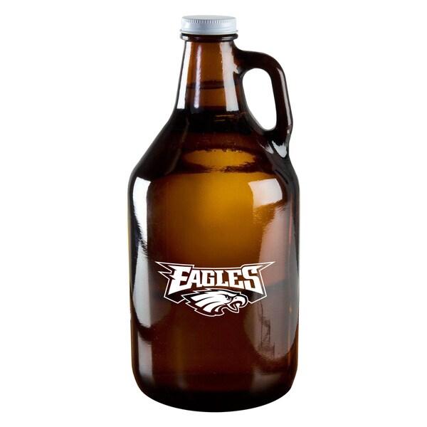 Philadelphia Eagles 64-Ounce Amber Glass Growler