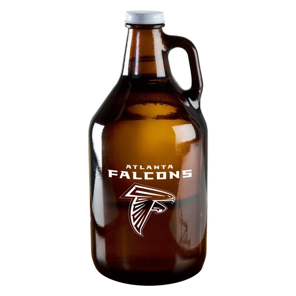 Atlanta Falcons 64-Ounce Amber Glass Growler