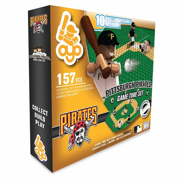 Pittsburgh Pirates MLB 157-Piece Gametime Field Set