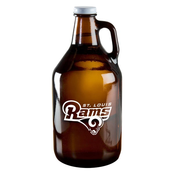 St. Louis Rams 64-Ounce Amber Glass Growler