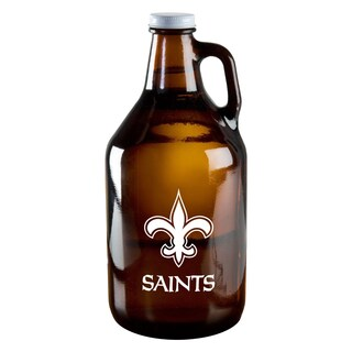 New Orleans Saints 64-Ounce Amber Glass Growler
