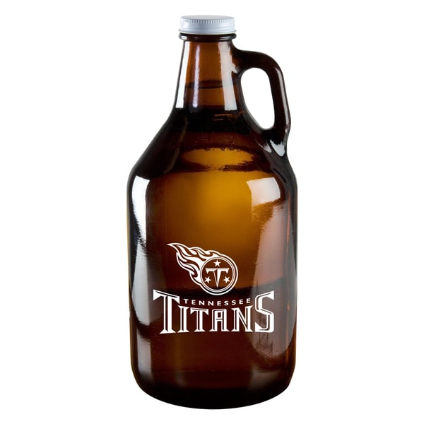Tennessee Titans 64-Ounce Amber Glass Growler