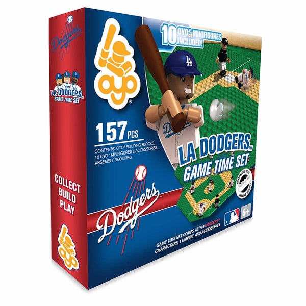 Los Angeles Dodgers MLB 157-Piece Gametime Field Set