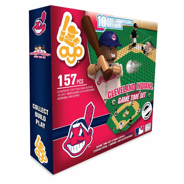 Cleveland Indians MLB 157-Piece Gametime Field Set