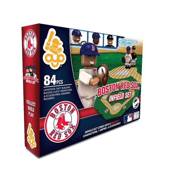 Oyo MLB Boston Red Sox 84-Piece Infield Building Set