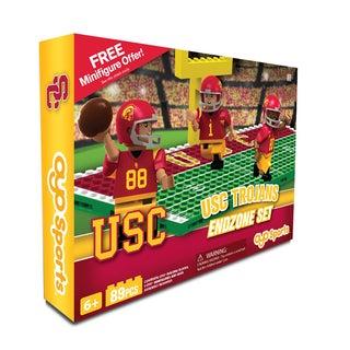 Oyo NCAA USC Trojans 64-Piece End Zone Building Set