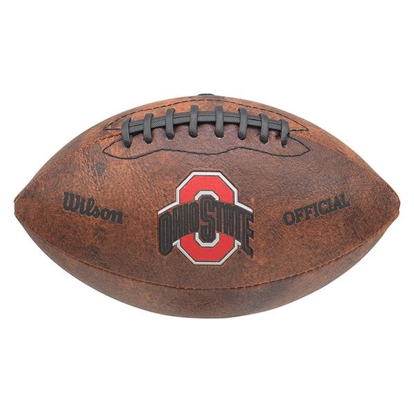 Wilson NCAA Ohio State Buckeyes 9-inch Leather Football