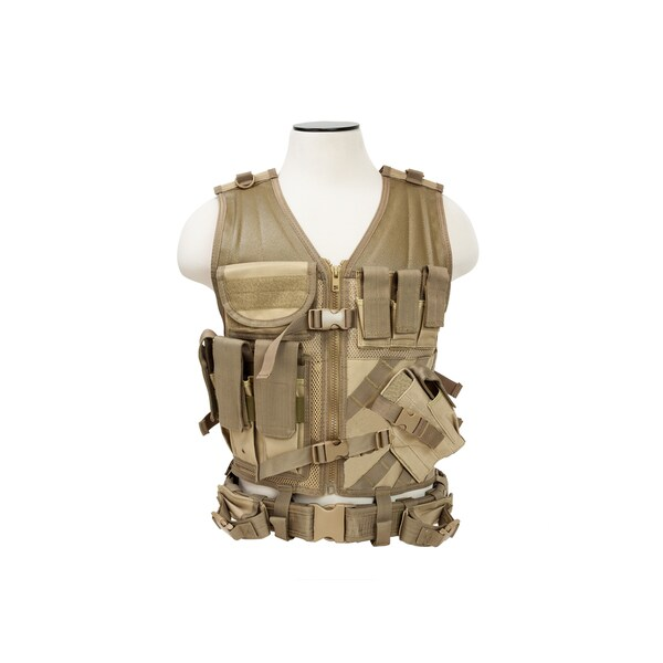 NcStar Tactical Vest Tan, M-XL