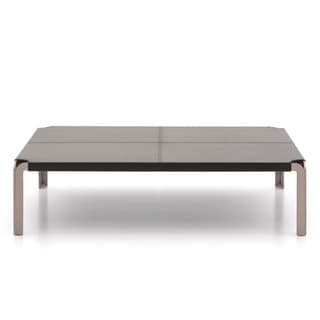 Trani Leather Top Coffee Table