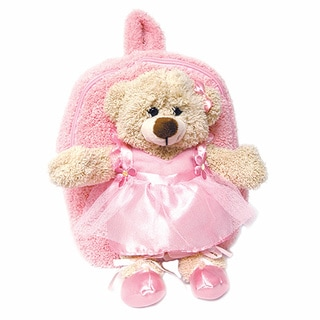 Plush Best Buddy Toddler Backpack Dancing Ballerina Bear