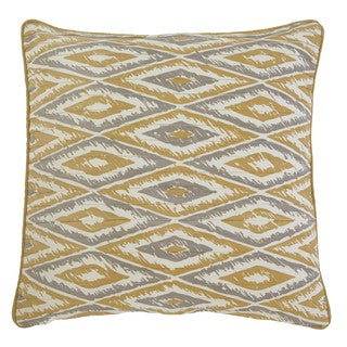 Signature Design by Ashley Stitched Gold 22-inch Pillow Cover