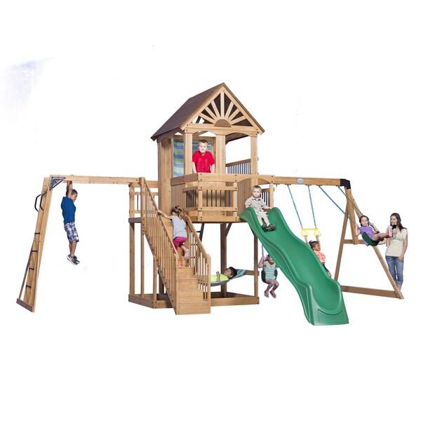 Backyard Discovery Oceanview All Cedar Swingset