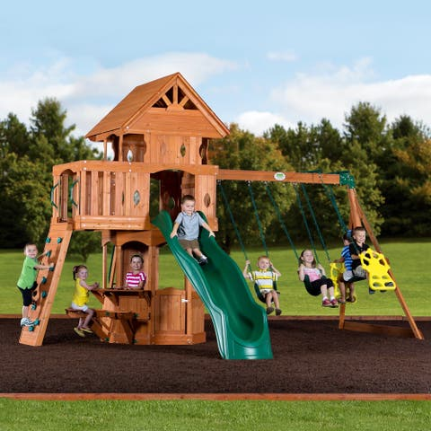 Backyard Discovery Woodland All Cedar Swingset