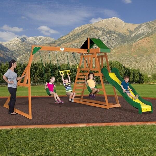 Shop Backyard Discovery Prescott All Cedar Swing Set Play Set Free
