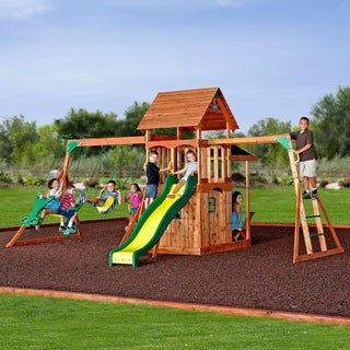 Backyard Discovery Saratoga All Cedar Swing Set Play Set