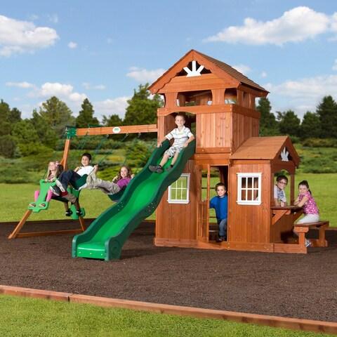 Backyard Discovery Shenandoah All Cedar Swing Set Play Set