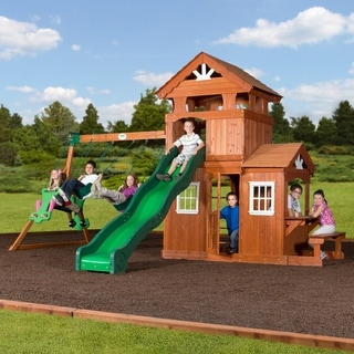 Backyard Discovery Shenandoah All Cedar Swingset