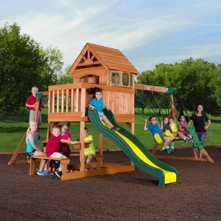 Backyard Discovery Springboro All Cedar Swingset