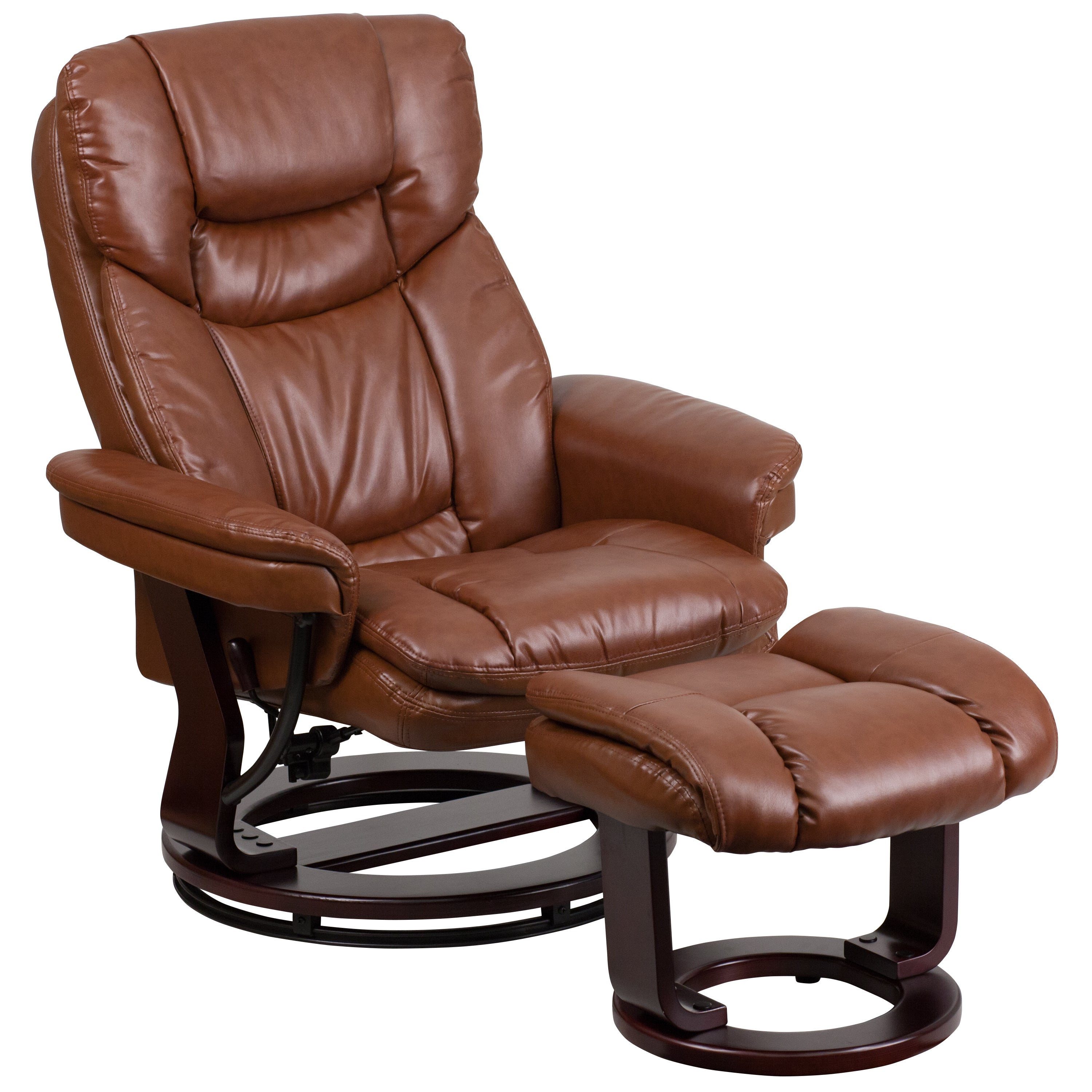 Leather Recliner with Ottoman Free Shipping Today Overstock