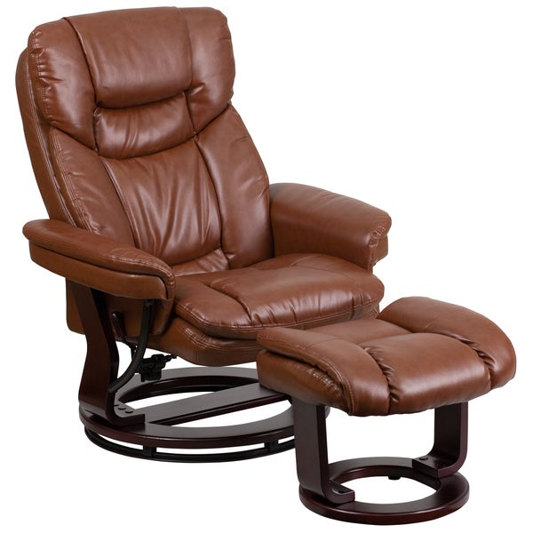 Leather Recliner with Ottoman  sc 1 st  Overstock.com & Leather Recliner with Ottoman - Free Shipping Today - Overstock ... islam-shia.org