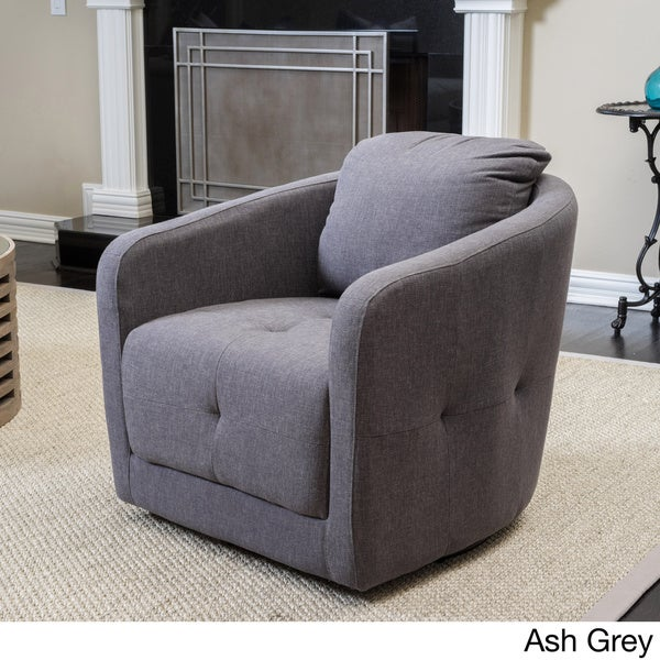 Christopher Knight Home Concordia Fabric Swivel Chair   Free Shipping Today    Overstock.com   17809373