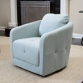 christopher knight home concordia fabric swivel chair - Swivel Rocker Chairs For Living Room