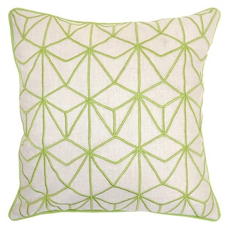 Kappa Linen Blend Lime 22-inch Throw Pillow