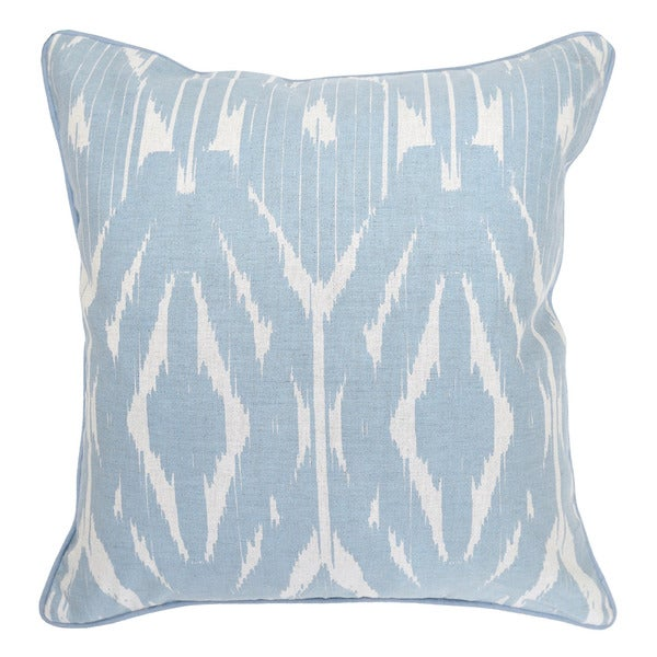 Leyla Linen blend Light Blue 22-inch Throw Pillow - Free Shipping Today - Overstock.com - 17809413