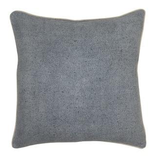 Kosas Home Quinn Linen Blend Slate Blue 22-inch Throw Pillow