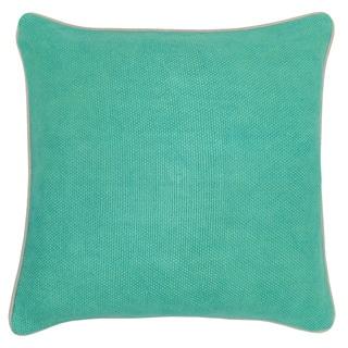 Quinn Linen Blend Jungle green 22-inch Throw Pillow