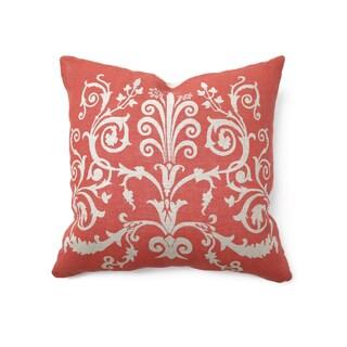 Rulla Linen Red 22-inch Throw Pillow