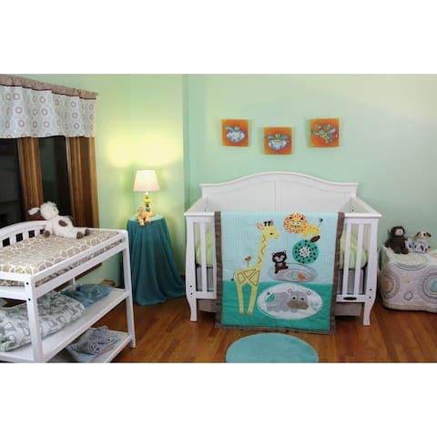 Lolli Living Zig-zag Zoo 4-piece Bedding Set