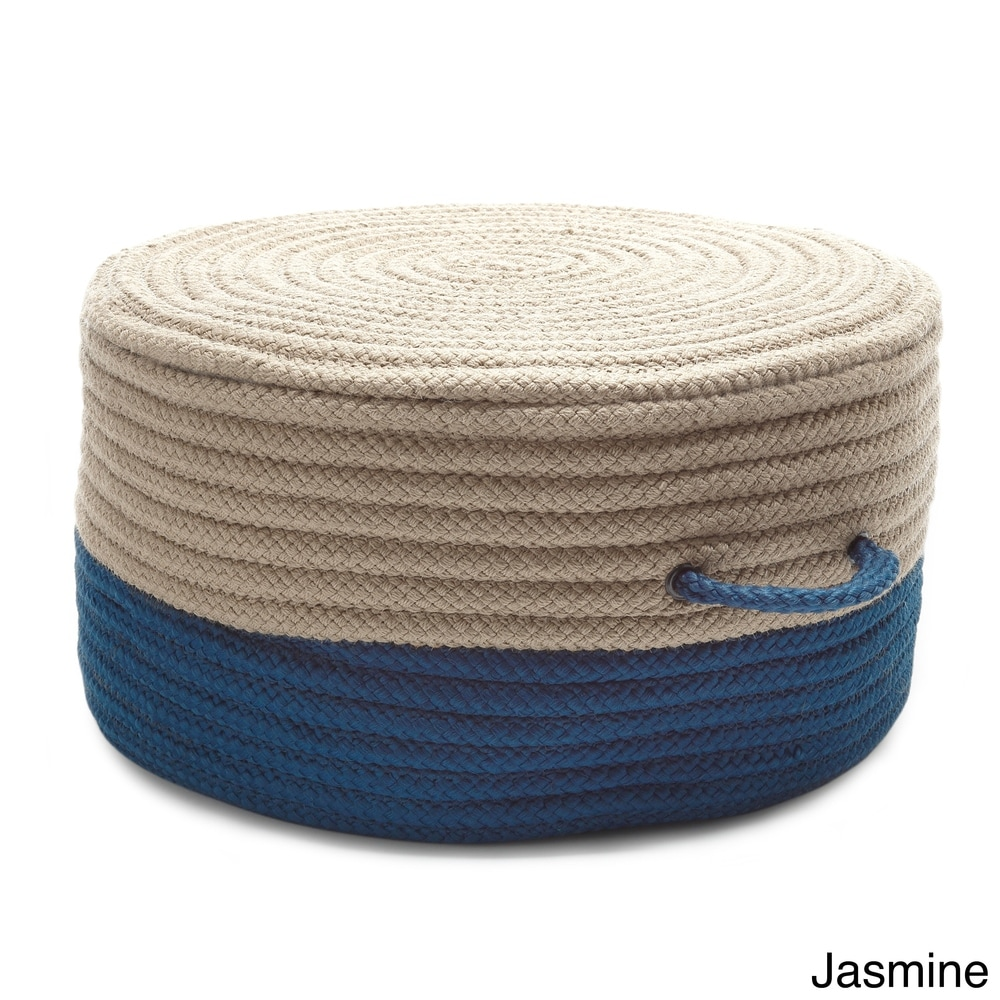 Shop Two-Tone Pouf - Overstock - 10755862