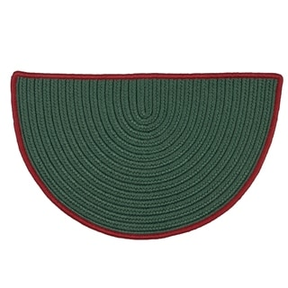 """Link to Reversible Green Hearth Rug Slice with Red Accent (1'6 x 2'6) - 1'6"""" x 2'6"""" - 1'6"""" x 2'6"""" Similar Items in Farmhouse Rugs"""
