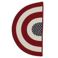 Indoor/ Outdoor Patriotic Red/ White/ Blue Reversible Rug Slice - 1'6 x 2'6