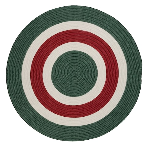 Holiday Banded Reversible Round Rug