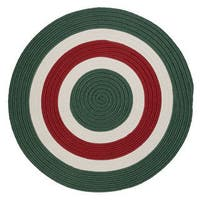 Holiday Banded Reversible Round Rug - 3' x 3'