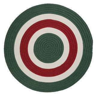 Holiday Banded Reversible Round Rug (3' x 3') - 3' x 3'