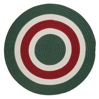 Holiday Banded Reversible Round Rug (5' x 5')
