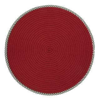 twisted round red christmas rug 3