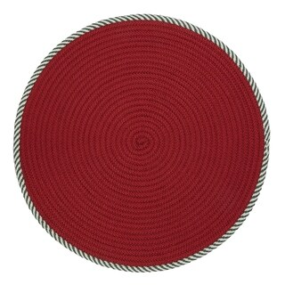 Twisted Stripe Reversible Round Christmas Rug - 5' x 5'
