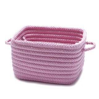 "12-inch Shelf Storage Basket with Handles (Option: Shelf Storage with Handles 12""x12""x9"" Pink)"