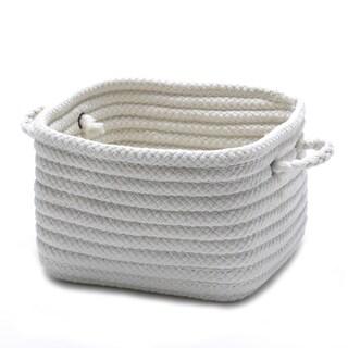 "12-inch Shelf Storage Basket with Handles (Option: Shelf Storage with Handles 12""x12""x9"" White)"
