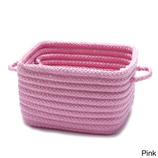 "Shelf Storage Basket with Handles (Option: Shelf Storage with Handles 10""x10""x7"" Pink)"