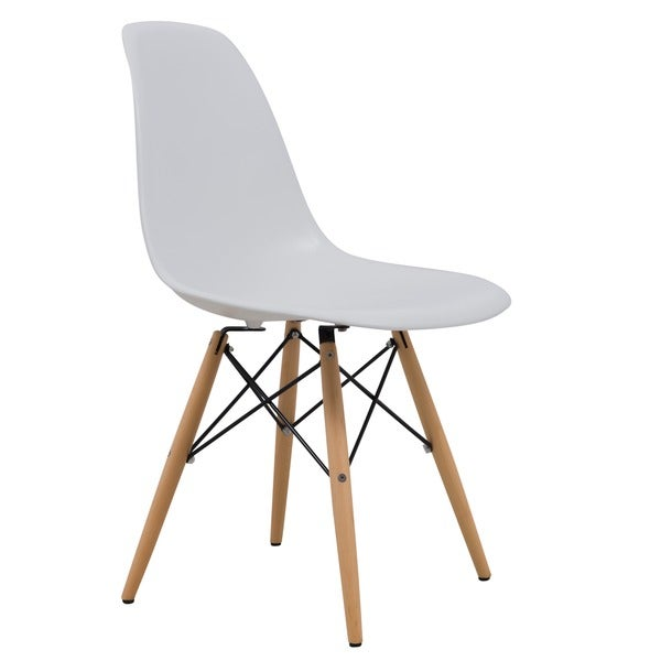 LeisureMod Dover White Dining Chair