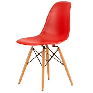 LeisureMod Dover Red Side Chair